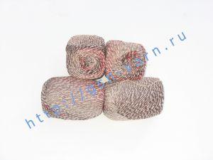 Пряжа 2,5/1. 43% Мягкая шерсть (softwool), 24% акрил, 19% хлопок, 11% нейлон, 3% кашемир. Основные цвета белый, серый, коричневый, бордовый (меланж)