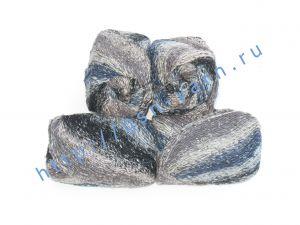 Пряжа 2/1. 50% Натуральный шелк (mulberry silk), 17% вискоза, 17% акрил, 16% хлопок. Основные цвета серый, коричневый, синий, черный