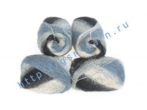 Пряжа 2/1. 60% Шерсть, 20% натуральный шелк малберри (mulberry silk), 20% мохер. Основные цвета черный, бежевый, синий