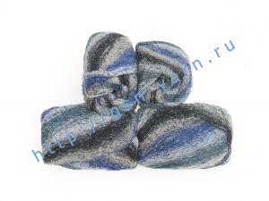 Пряжа 2/1. 50% Натуральный шелк (mulberry silk), 17% вискоза, 17% акрил, 16% хлопок. Основные цвета синий, бежевый, черный