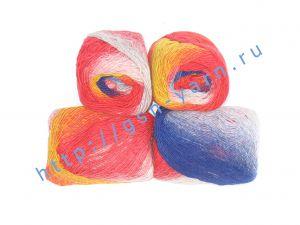 Пряжа 2/1. 53% Мохер, 47% мягкая шерсть (softwool). Основные цвета красный, синий, желтый