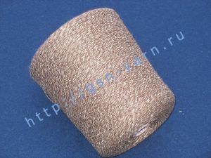 Пряжа 6,5/1. 61% Акрил, 33% конопля, 3% вискоза, 3% натуральный шелк (mulberry silk). Цвет бордово-коричневый + белый (меланж)