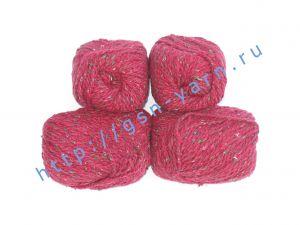 Пряжа 2/2 (твид). 55% Натуральный шелк малберри (mulberry silk), 45% шерсть. Цвет бордовый с разноцветными вкраплениями
