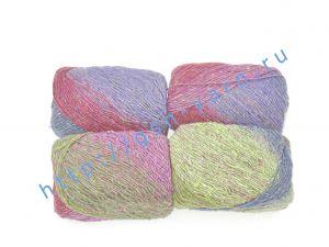 Пряжа 1,6/1. 70% Шерсть, 30% натуральный шелк малберри (mulberry silk). Основные цвета зеленый, бордовый, синий