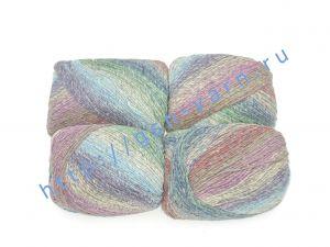 Пряжа 2/1. 90% Шерсть, 10% натуральный шелк малберри (mulberry silk). Основные цвета зеленый, синий, коричневый