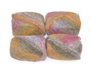 Пряжа 2,3/1. 40% Шерсть, 31% натуральный шелк малберри (mulberry silk), 24% мохер, 5% полиэстер. Основные цвета рыжий, черный
