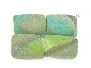 Пряжа 4/1. 75% Шерсть, 25% полиэстер. Основные цвета оттенки зеленого