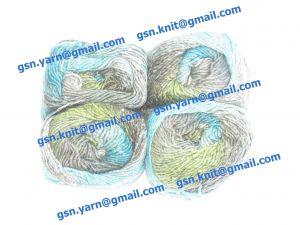 Узелковая пряжа, непсы (NEPS yarn, пряжа с включениями) 1,6/1. 50% Натуральный шелк (mulberry silk), 17% вискоза, 17% акрил, 16% хлопок. Основные цвета зеленый, серый, желтый и их оттенки