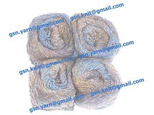 Узелковая пряжа, непсы (NEPS yarn, пряжа с включениями) 1,6/1. 50% Натуральный шелк (mulberry silk), 17% вискоза, 17% акрил, 16% хлопок. Основные цвета синий, коричневый, серый и их оттенки