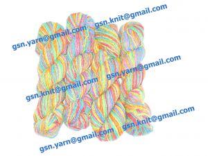 Узелковая пряжа, непсы (NEPS yarn, пряжа с включениями) 2/1. 55% Хлопок, 40% вискоза, 5% натуральный шелк (mulberry silk). Основные цвета синий, желтый, красный, зеленый и их оттенки
