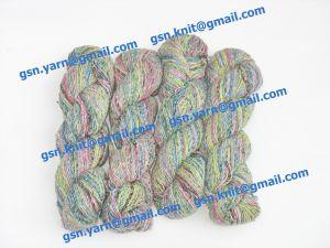 Пряжа 2/1. 50% Натуральный шелк (mulberry silk), 17% вискоза, 17% акрил, 16% хлопок. Основные цвета красный, синий, желтый, серый и их оттенки