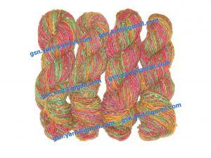 Пряжа 1,2/1. 55% Натуральный шелк (mulberry silk), 45% шерсть. Основные цвета красный, зеленый и их оттенки
