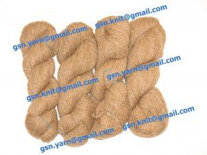 Пряжа 6/2. 30% Шерсть, 30% нейлон, 30% акрил, 10% ангора (dehaired angora). Цвет песочно-коричневый