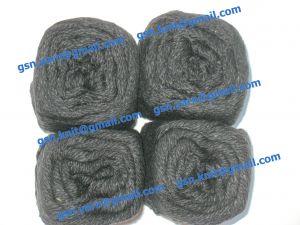 Узелковая пряжа, непсы (NEPS yarn, пряжа с включениями) 4,5/2. 58% Хлопок, 36% вискоза, 6% акрил. Цвет черный