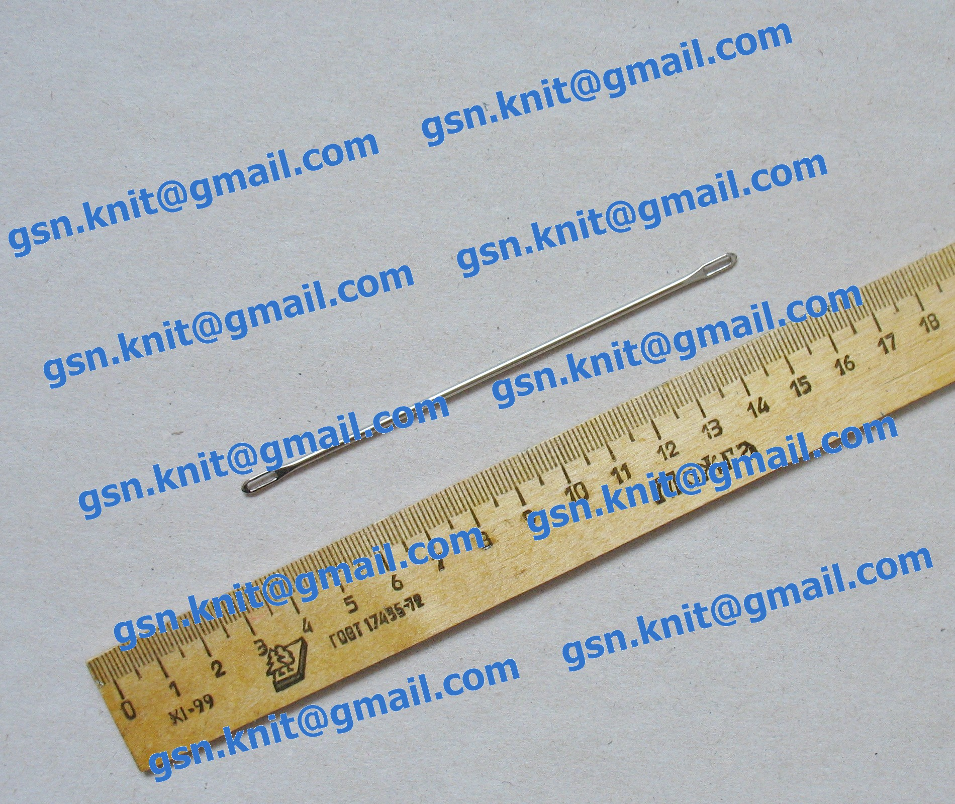 Двухголовочная игла для ручного и машинного вязания