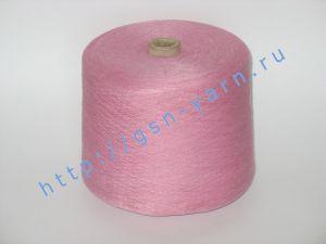 Пряжа 28/1. 70% Вискозный шелк (rayon), 20% конопля, 10% натуральный шелк (mulberry silk). Цвет пыльный розовый, вишневый
