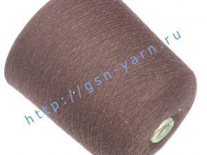 Пряжа 18/1. 60% Хлопок, 40% акрил. Цвет коричневый