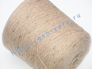 Узелковая пряжа, непсы (NEPS yarn, пряжа с включениями) 11/2. 60% Хлопок, 30% нейлон, 10% шерсть. Цвет персиковый