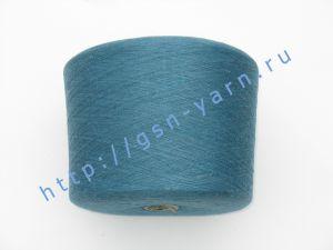 Пряжа 28/1. 50% Хлопок, 40% вискозный шелк (rayon), 10% лен. Цвет синий, лазурный