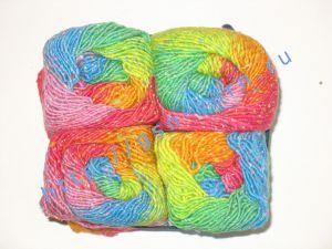 Узелковая пряжа, непсы (NEPS yarn, пряжа с включениями) 2/1. 55% Хлопок, 40% вискоза, 5% натуральный шелк (mulberry silk). Основные цвета оттени красного, синего, зеленого, желтого