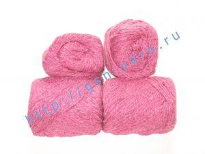 Пряжа 5,5/3. 60% Натуральный шелк (mulberry silk), 40% вискоза. Цвет 03: малиновый + вкрапления
