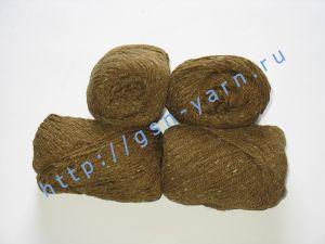 Пряжа 6/3. 50% Хлопок, 30% вискоза, 20% натуральный шелк (mulberry silk). Цвет 01: коричнево-бордовый + вкрапления