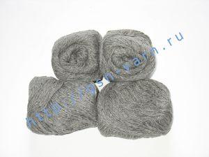 Пряжа 6/3. 40% Хлопок, 30% лен, 30% вискоза. Цвет 08: серый + вкрапления