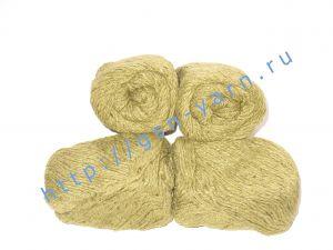 Пряжа 6/3. 40% Хлопок, 30% лен, 30% вискоза. Цвет 03: желтый (пшеничный) + вкрапления