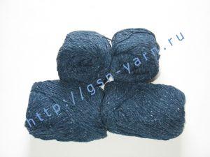 Пряжа 6/3. 40% Хлопок, 30% лен, 30% вискоза. Цвет 05: темно-синий + вкрапления