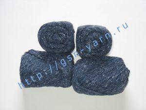Пряжа 4/2. 60% Акрил, 20% хлопок, 20% лен. Цвет 02: темно-синий + вкрапления
