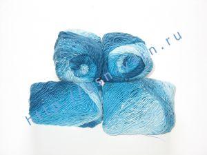 Пряжа секционного крашения 2,3/1. 60% Хлопок, 40% акрил. Цвет 07. Основные цвета: оттенки голубого