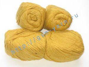 Пряжа 6/4. 95% Акрил, 5% альпака. Цвет желтый / ярко-песочный