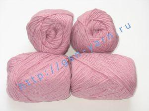 Пряжа 8/4. 40% Шерсть, 30% акрил, 30% нейлон. Цвет бледно-розовый / бледно-вишневый / меланж