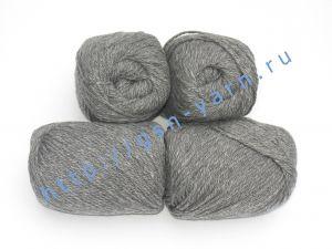 Пряжа 6/3. 40% Акрил, 33% нейлон, 22% шерсть, 5% ангора. Цвет серый