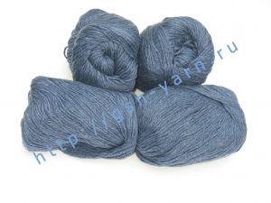 Пряжа 16/6. 60% Акрил, 40% хлопок. Цвет синий / джинсовый