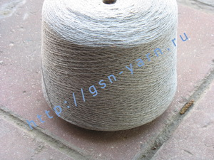 Узелковая пряжа, непсы (NEPS yarn, пряжа с включениями) 12/2. 40% Хлопок, 30% натуральный шелк (mulberry silk), 15% нейлон, 15% вискоза. Цвет