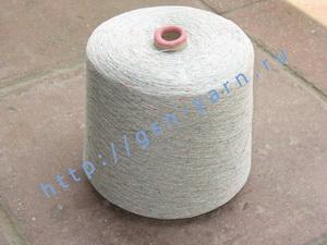 Узелковая пряжа, непсы (NEPS yarn, пряжа с включениями) 15/1. 65% Вискоза, 35% хлопок. Цвет