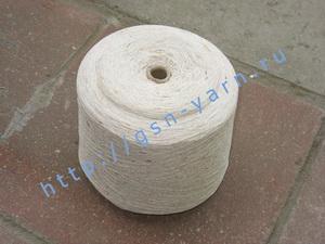 Узелковая пряжа, непсы (NEPS yarn, пряжа с включениями) 15,5/2. 55% Хлопок, 33% акрил, 12% нейлон. Цвет