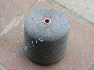 Узелковая пряжа, непсы (NEPS yarn, пряжа с включениями) 28/2. 60% Хлопок, 40% полиэстер. Цвет