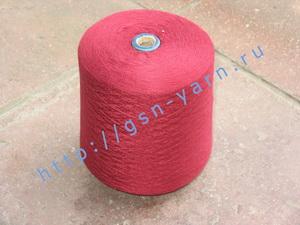 Пряжа 28/2 на бобинах для ручного и машинного вязания, ткачества. 80% Вискозный шелк (rayon), 10% ангора (dehaired angora), 9% натуральный шелк (mulberry silk), 1% кашемир. Цвет бордовый