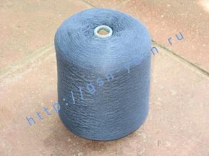 Пряжа 28/2 на бобинах для ручного и машинного вязания, ткачества. 80% Бамбук, 10% ангора (dehaired angora), 9% натуральный шелк (mulberry silk), 1% кашемир. Цвет синий