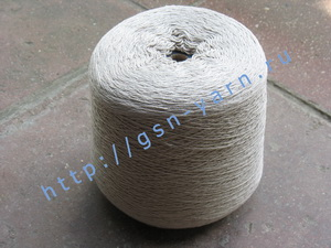 Пряжа 12,6/3 на бобинах для ручного и машинного вязания, ткачества. 60% Хлопок, 40% натуральный шелк (mulberry silk). Цвет бежевый