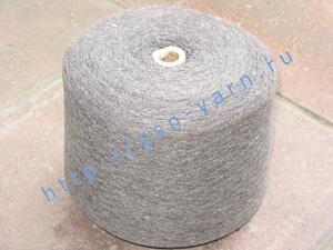 Пряжа 12/1 на бобинах для ручного и машинного вязания, ткачества. 40% Шерсть, 20% вискоза, 20% нейлон, 15% акрил, 5% ангора (angora). Цвет серый, серо-бордовый