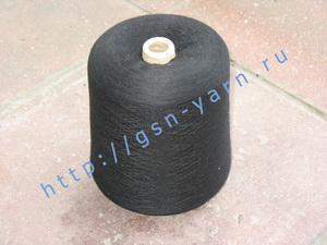 Пряжа 48/2 на бобинах для ручного и машинного вязания, ткачества. 74% Натуральный шелк (mulberry silk), 18% беби альпака (baby alpaca), 8% лен. Цвет черный