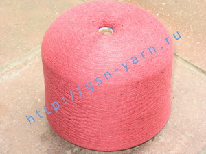 Пряжа 26/2 на бобинах для ручного и машинного вязания, ткачества. Узелковая пряжа, пряжа с включениями (NEPS yarn). 50% Хлопок, 30% натуральный шелк (mulberry silk), 16% шерсть (soft wool), 4% кашемир. Цвет вишневый + черные вкрапления
