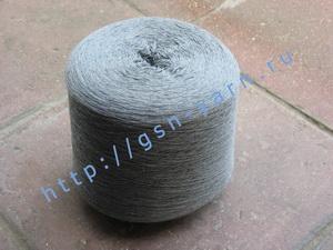 Пряжа 32/4 на бобинах для ручного и машинного вязания, ткачества. 70% Хлопок, 20% нейлон, 10% альпака (alpaca). Цвет серый