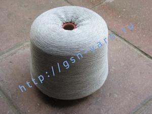 Пряжа 30/2 на бобинах для ручного и машинного вязания, ткачества. 85% Натуральный шелк (mulberry silk), 15% беби альпака (baby alpaca). Цвет серо-белый