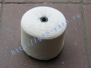Пряжа 32/2 на бобинах для ручного и машинного вязания, ткачества. 90% Натуральный шелк (mulberry silk), 10% кашемир. Цвет молочно-белый