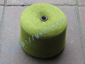 Пряжа 26/2 на бобинах для ручного и машинного вязания, ткачества. Узелковая пряжа, пряжа с включениями (NEPS yarn). 60% Вискоза, 20% шерсть (soft wool), 10% натуральный шелк (mulberry silk), 10% беби альпака (baby alpaca). Цвет оливковый + разноцветные вк