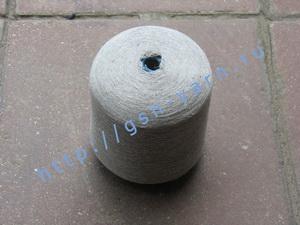 Пряжа 32/2 на бобинах для ручного и машинного вязания, ткачества. 50% Натуральный шелк (mulberry silk), 50% лен. Цвет светло-серый с белым (меланж ?)